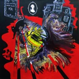 Edgar Poe - Acrylique sur toile
