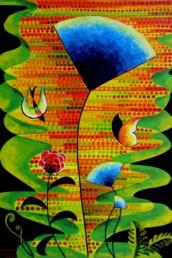 Le jardin de Venus - Acrylique et huile sur toile