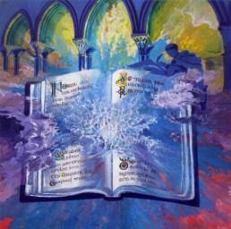 le Livre de Kells - Acrylique sur toile