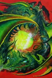 L'antre des dragons - Acrylique sur toile