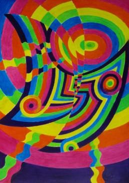 Paon du Jour - acrylique sur toile