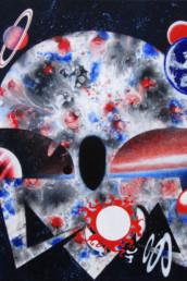 Le faiseur de planètes - Acrylique sur toile