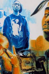 Tupac - acrylique sur toile