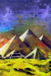Gizeh - Acrylique sur toile