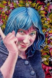 Polymnie, Muse de la rhétorique - acrylique sur toile