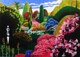 Jardin anglais - Acrylique sur toile