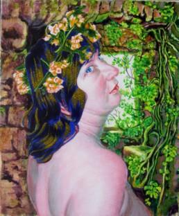 Thalie, muse de la comédie pastorale - acrylique sur toile