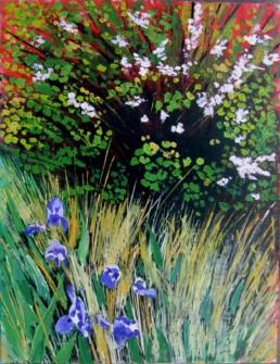 Iris - Acrylique et huile sur toile