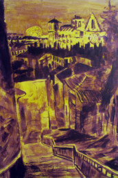 Ruelle à la Croix-Rousse - Acrylique sur toile