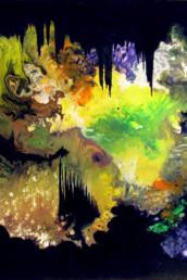 La porte du royaume des Elfes - Acrylique sur toile