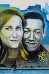 Aurélie et Benoit - acrylique sur toile